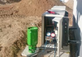 Anschluss Kühlmaschine